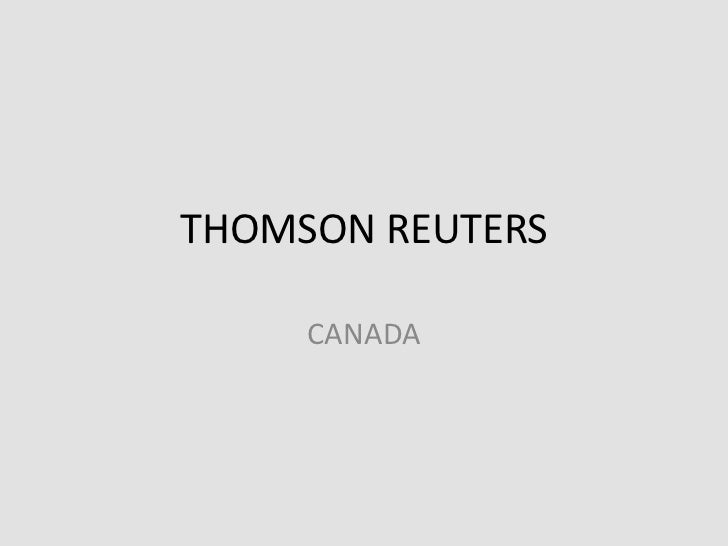THOMSON REUTERS<br />CANADA<br />