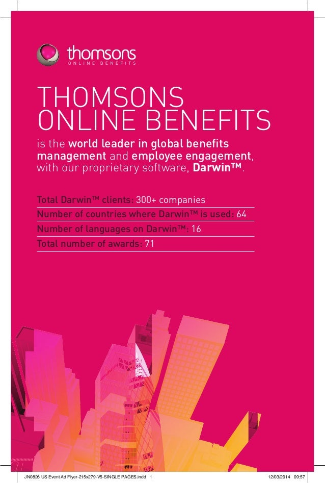 Introduction to Thomsons Online Benefits