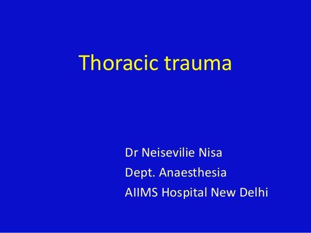 Thoracic trauma and pain management