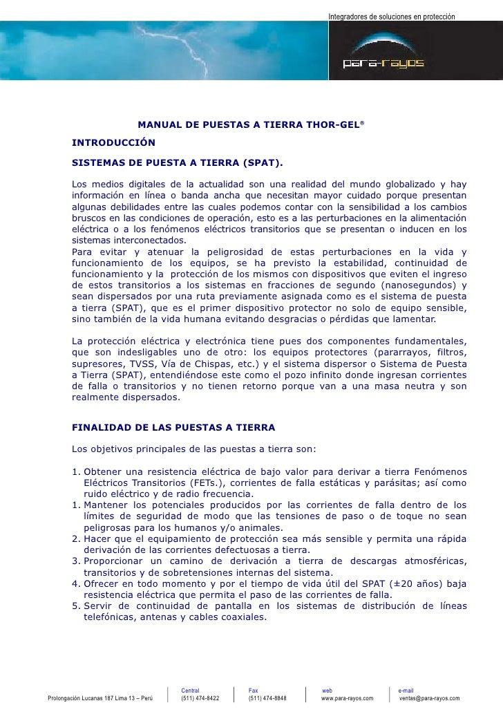 Integradores de soluciones en protección                                                          MANUAL DE PUESTAS A TIER...