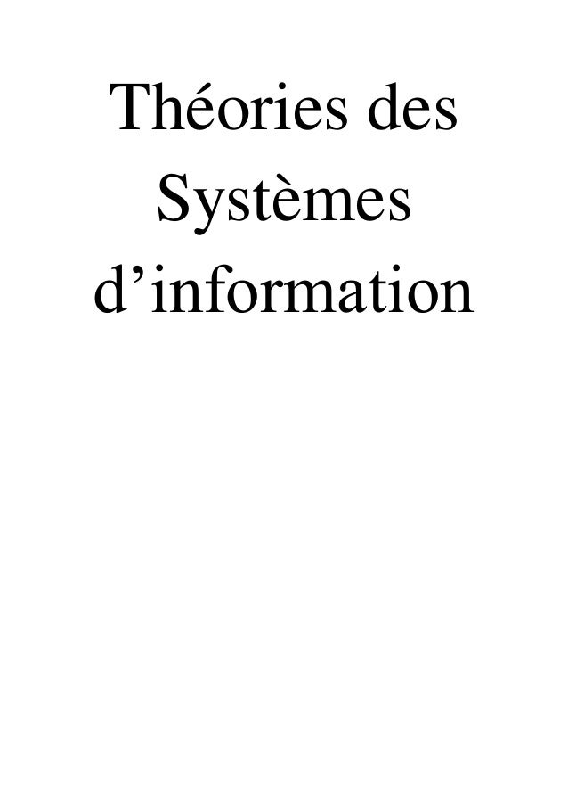 Théories des Systèmes d'information