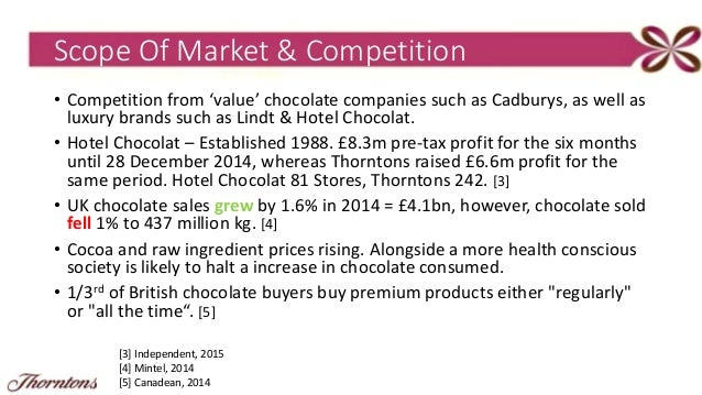 thorntons plc swot 20 swot analysis 21 strengths let us write you a custom essay sample on thornton's chocolate for you for only $1390/page order now 211 manufacturing thorntons plc conducted their key manufacturing and selling activities in house the ability to monitor the process of the boxed chocolate selection provides them with greater control over.