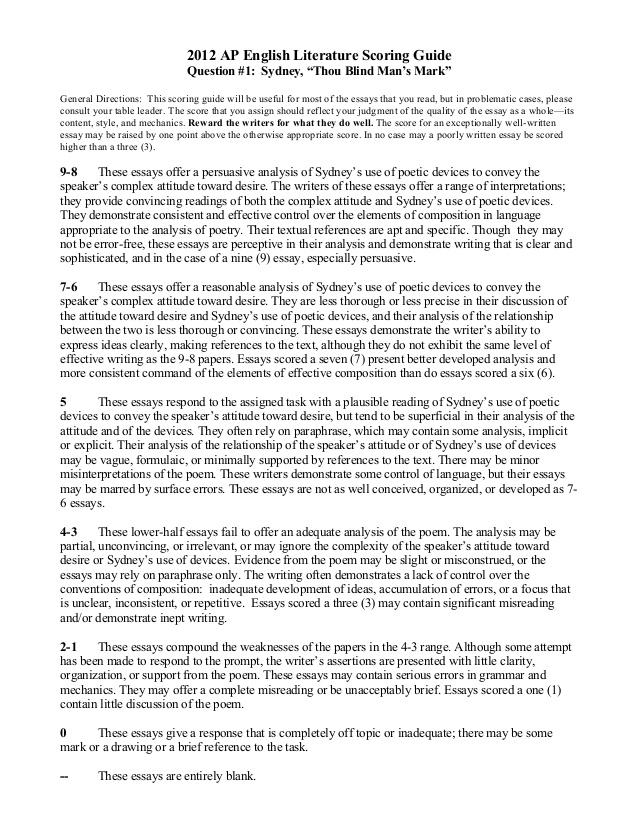 ap english essays college board