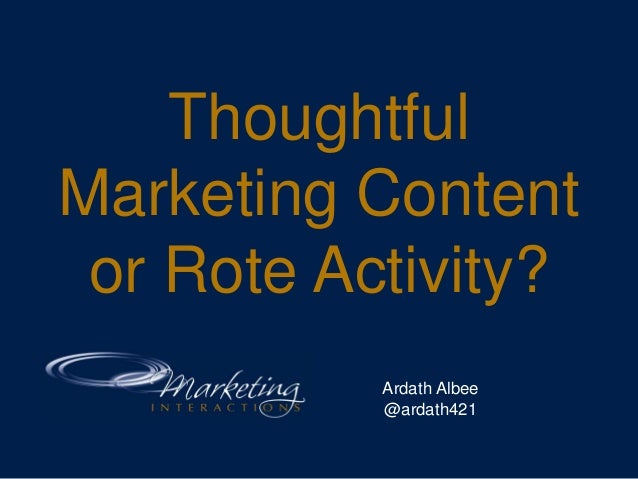 Create Thoughtful B2B Marketing Content