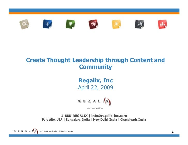 Create Thought Leadership with Content & Community