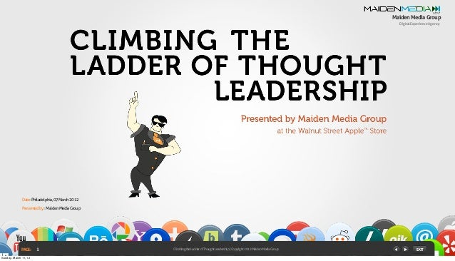 ClimbingtheLadderofThoughtLeadership Copyright2012MaidenMediaGroup DigitalExperienceAgency MaidenMediaGroup PAGE: Presente...