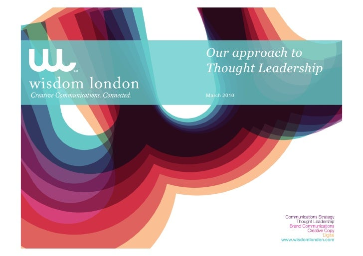 Thought Leadership And Wisdom London