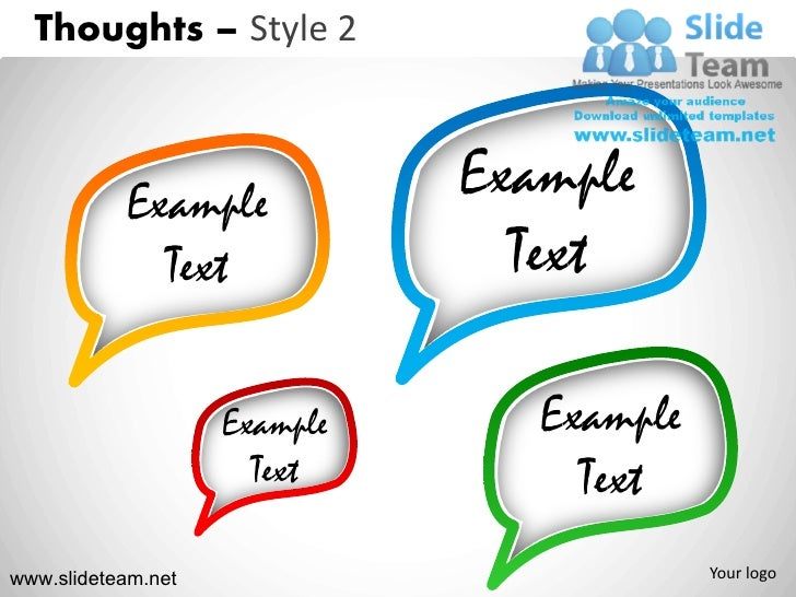 Thoughts call outs voices style design 2 powerpoint ppt templates.