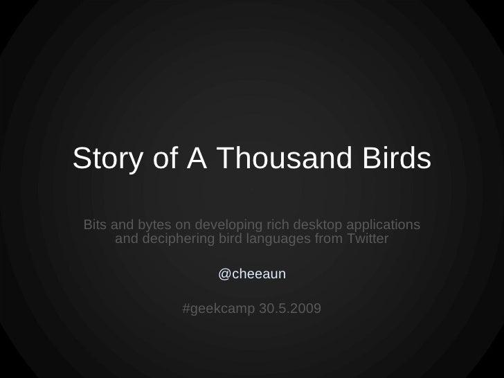Story of A Thousand Birds