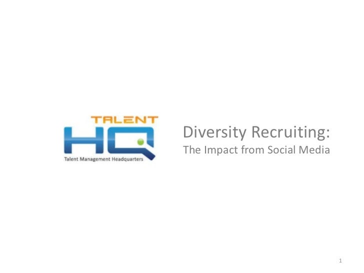 Diversity Recruiting - The Impact From Social Media