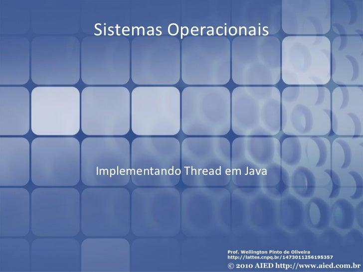 Thread Java