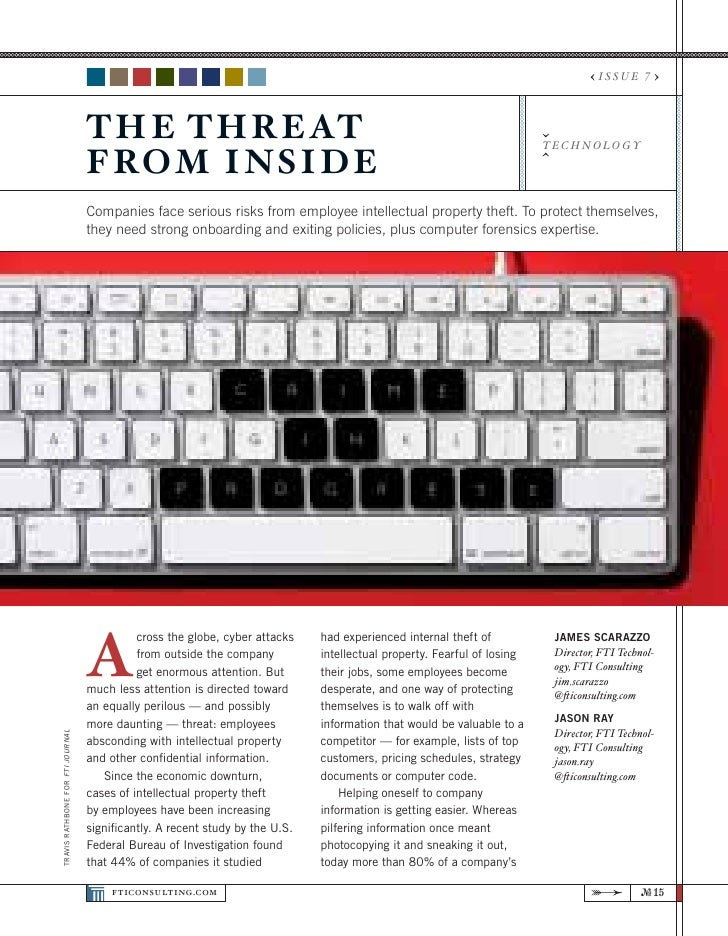 Threat From The Inside, Fti Journal