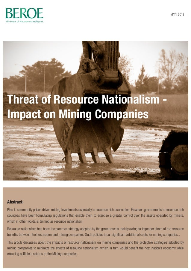Threat of Resource Nationalism - Impact on Mining Companies