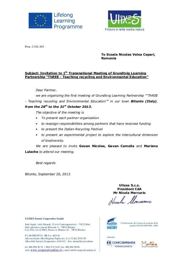 Invitation for Romania
