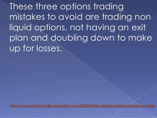 How to trade illiquid options