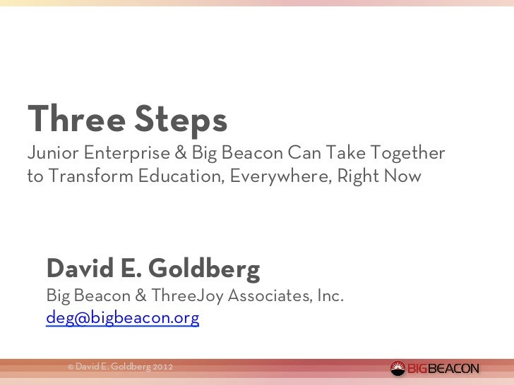 Three Steps Junior Enterprise & Big Beacon Can Take Together to Transform Education, Everywhere, Right Now