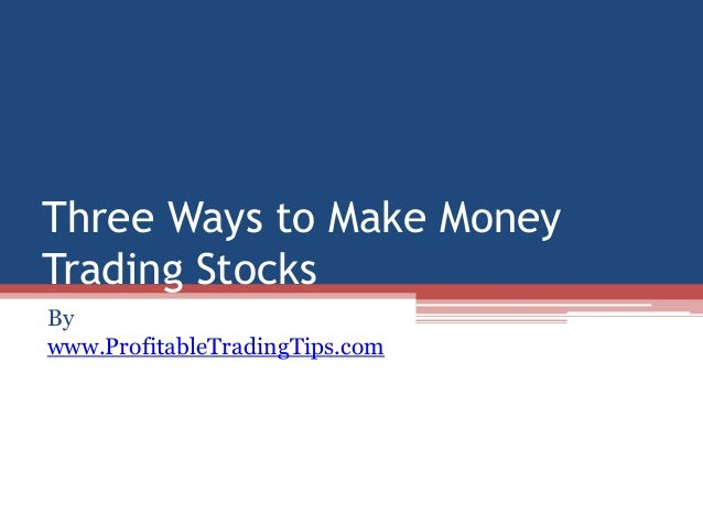Make money trading stocks & options download