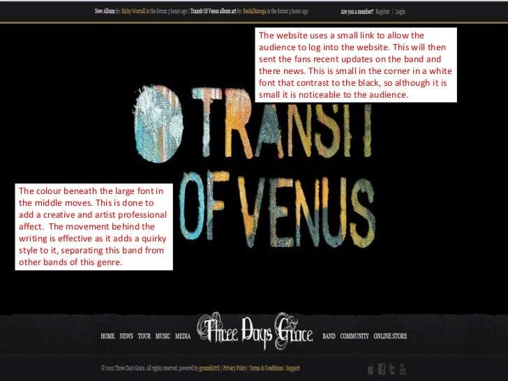 Three days grace website analysis