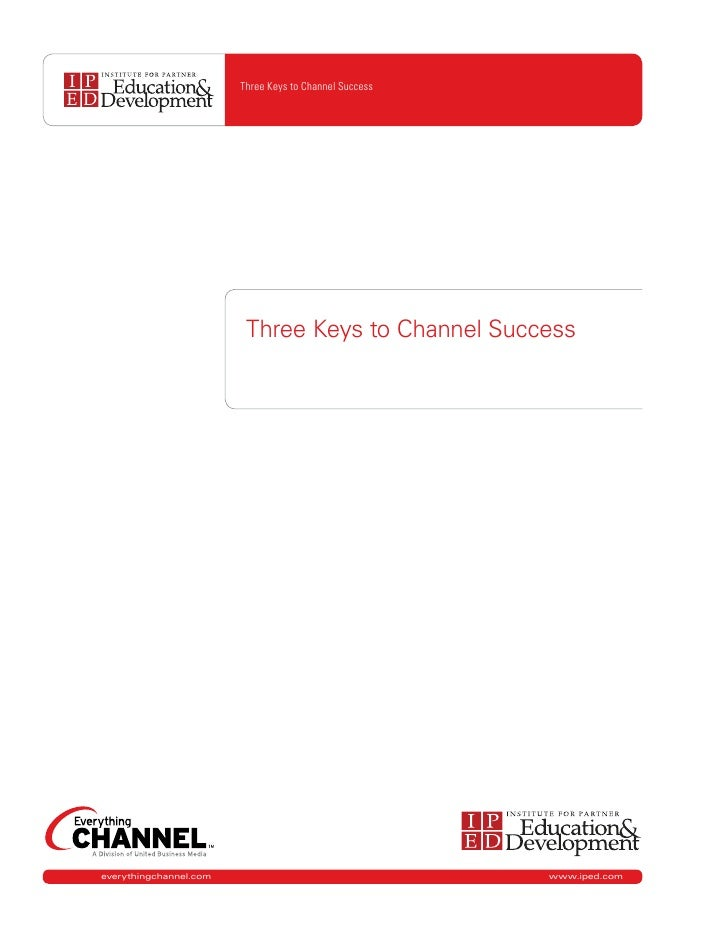 Three Keys to Channel Success