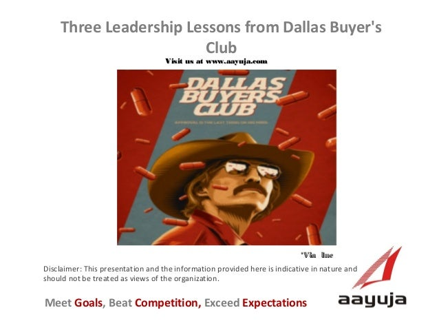 Three Leadership Lessons from Dallas Buyer's Club