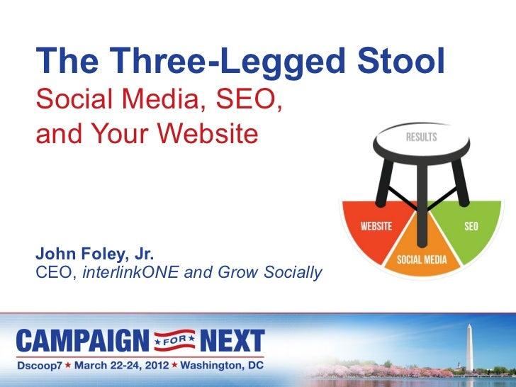 The Three Legged Stool: Social Media, SEO, and Your Website