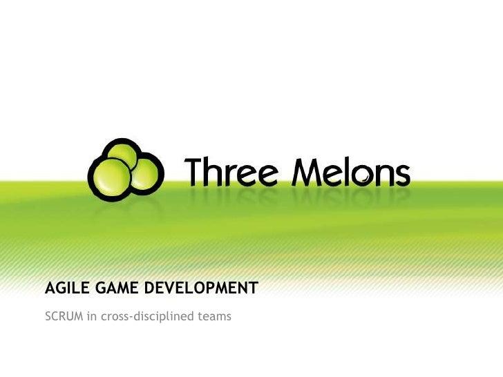 Agile GameDevelopment<br />SCRUM in cross-disciplinedteams<br />