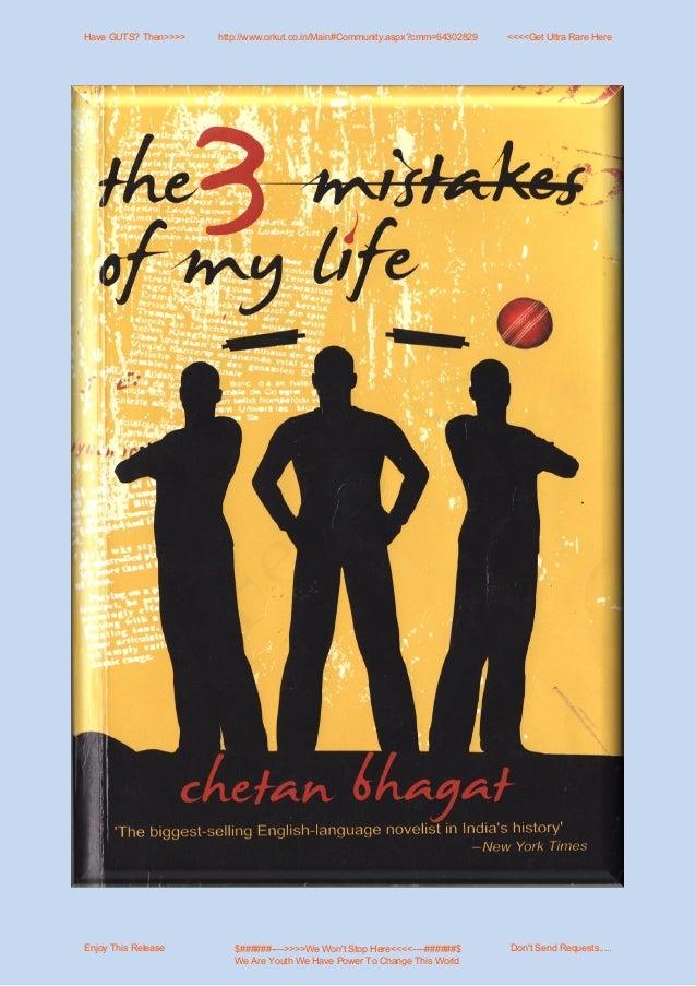 Three mistakes of my life~chetan bhagat