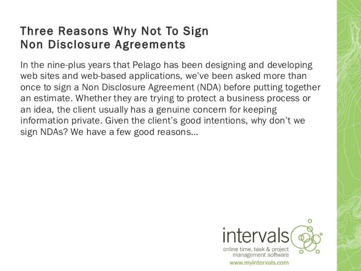 the fundamentals and benefits of nondisclosure agreements nda Perkins and a colleague split a settlement with miramax of about $425,000 and signed a non-disclosure agreement in how egregious these agreements are and the.