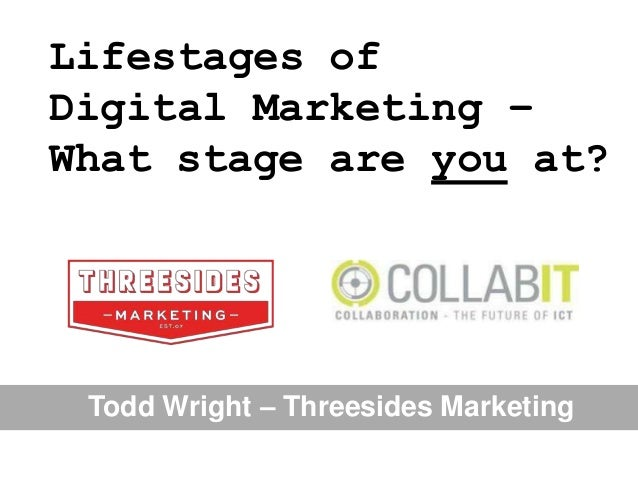 Lifestages of Digital Marketing – What stage are you at?  Todd Wright – Threesides Marketing