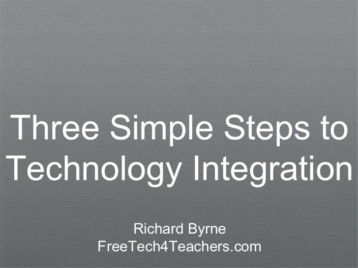 Three Simple Steps toTechnology Integration          Richard Byrne     FreeTech4Teachers.com