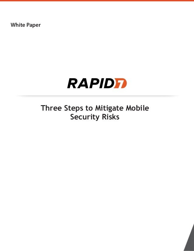 Three Steps to Mitigate Mobile Security Risks White Paper