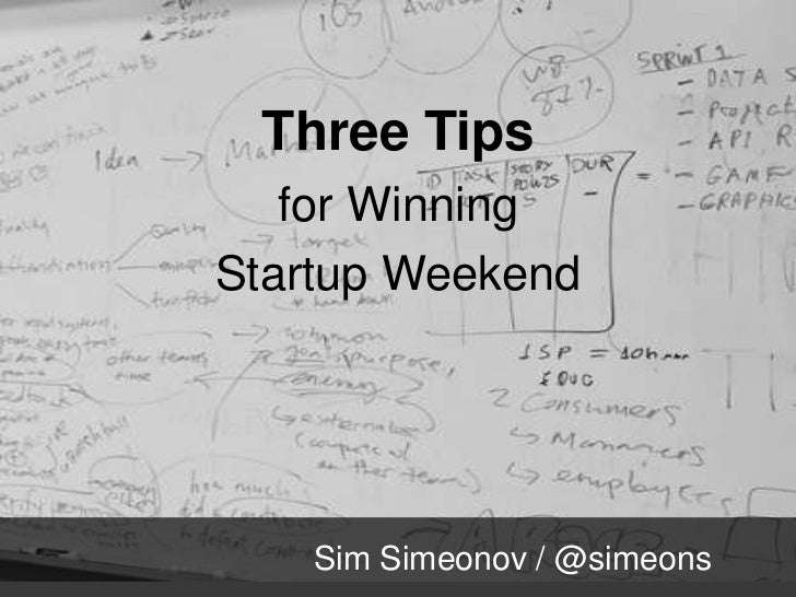 Three Tips for Winning Startup Weekend