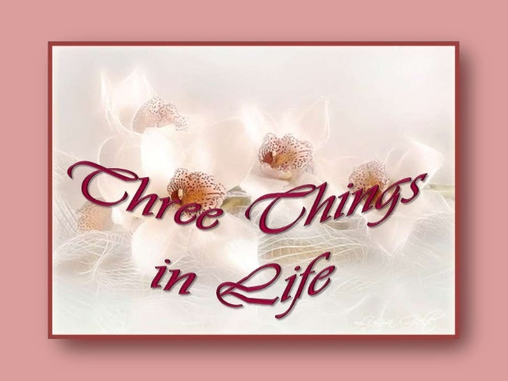 Three Things in Life<br />
