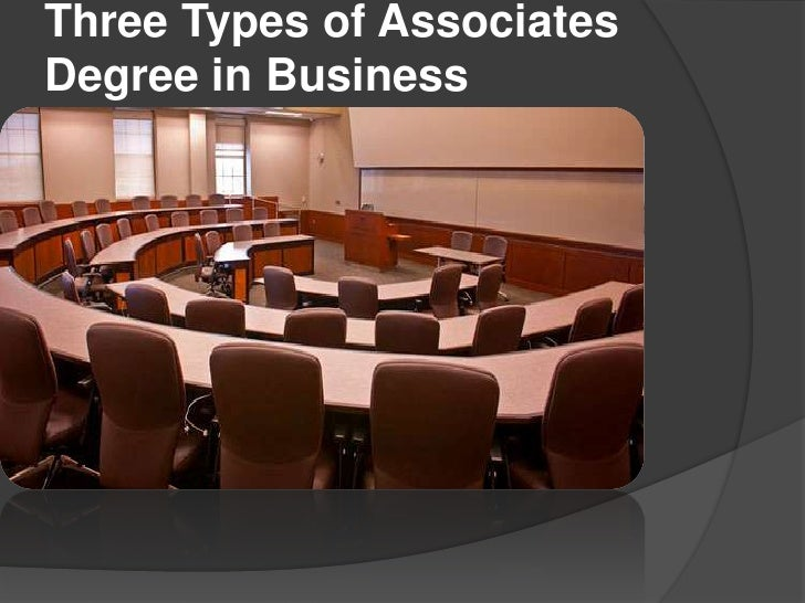 Three Types of AssociatesDegree in Business