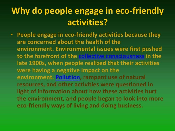 does people activity harm the environment essay How can humans affect their environment people affect the environment with normal things we do every day recent site activity.