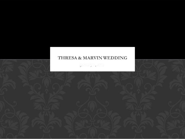 Thresa & marvin wedding1