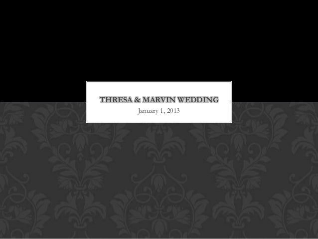 Thresa & Marvin Wedding
