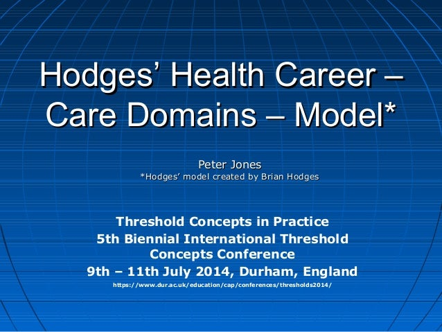 Hodges' Health Career –Hodges' Health Career – Care Domains – Model*Care Domains – Model* Threshold Concepts in Practice 5...
