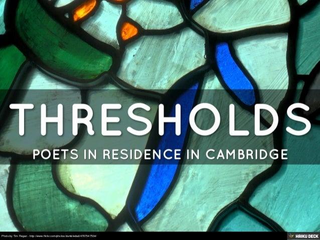 Thresholds Poets In Residence