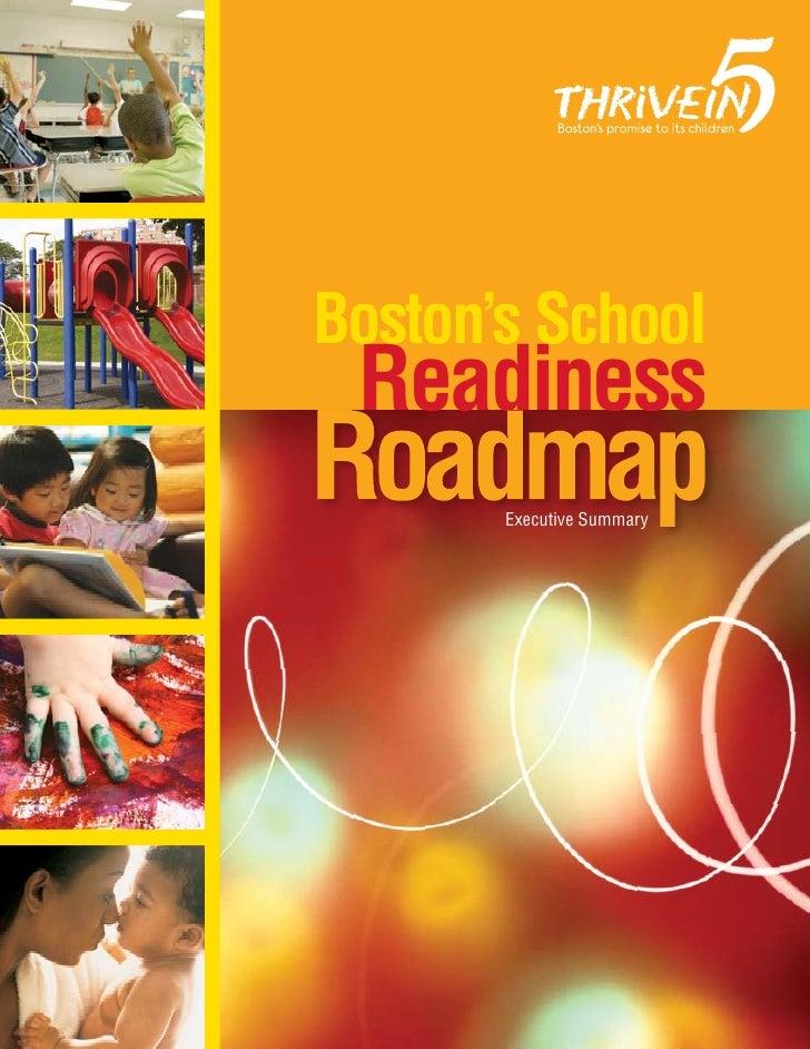 Boston's School  Readiness        Executive Summary