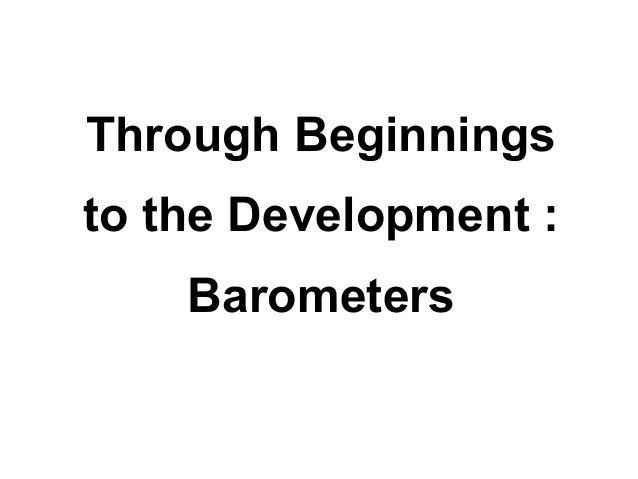 Through beginnings to the development : barometers