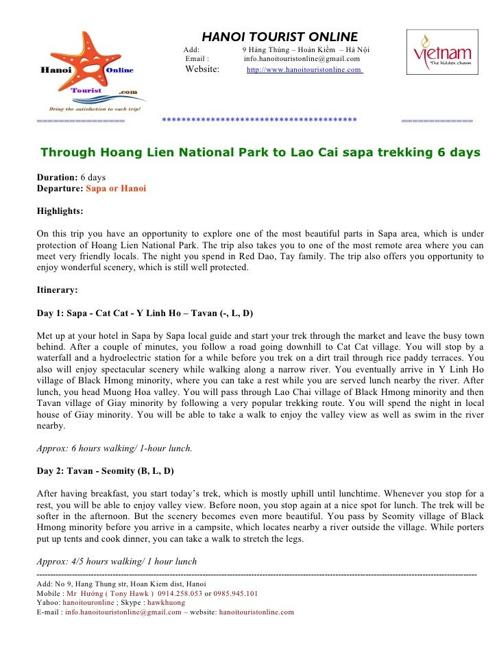 Package Tours, Sapa Trips, Through hoang lien national park to lao cai sapa trekking 6 days
