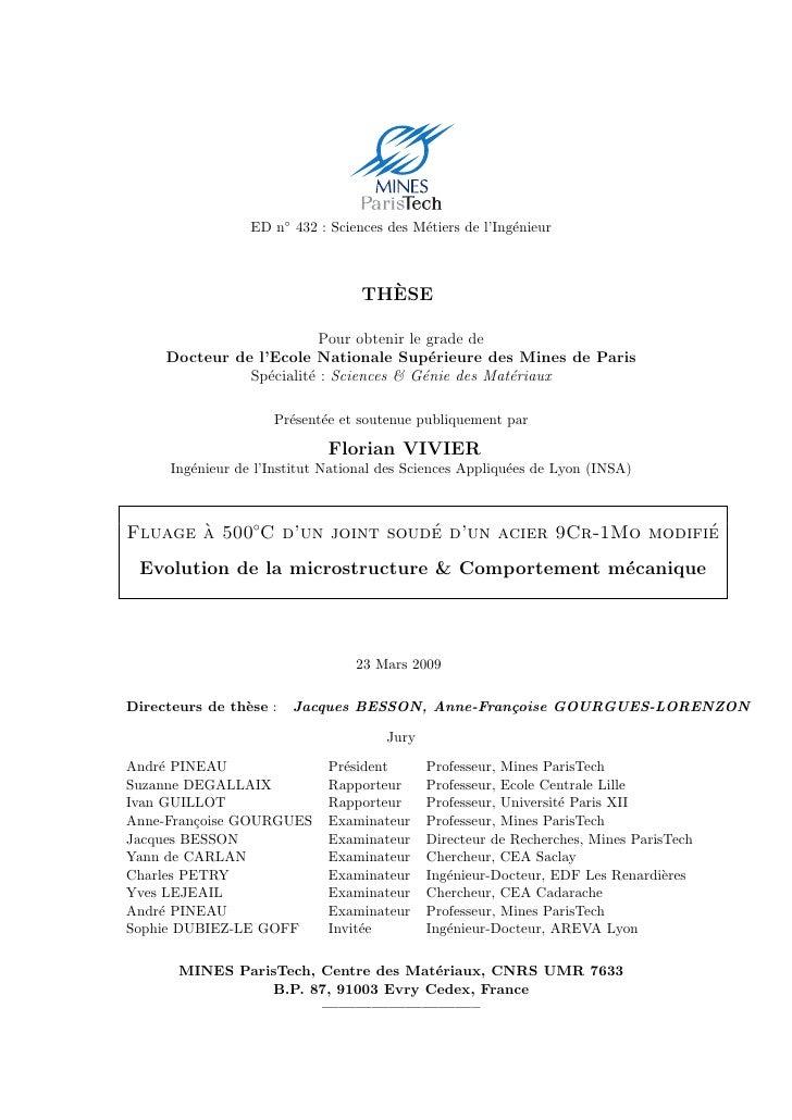 ED n◦ 432 : Sciences des M´tiers de l'Ing´nieur                                             e              e              ...