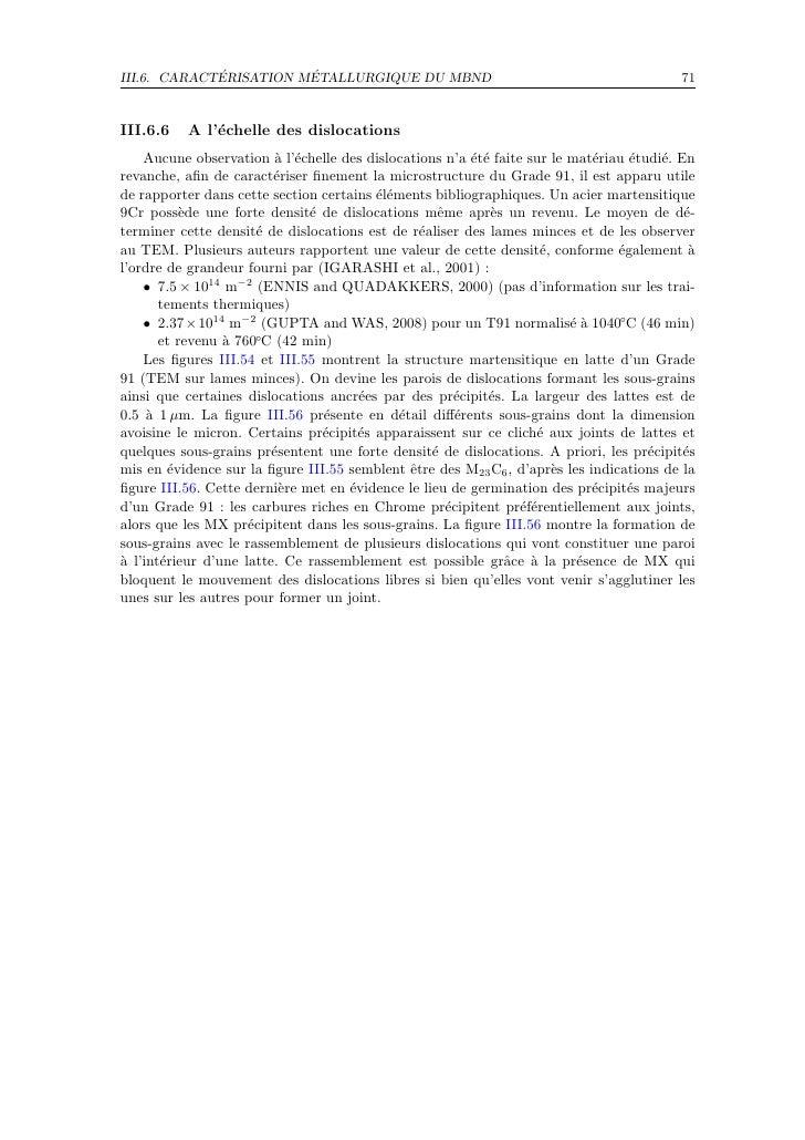 ´          ´ III.6. CARACTERISATION METALLURGIQUE DU MBND                                              71   III.6.6   A l'...