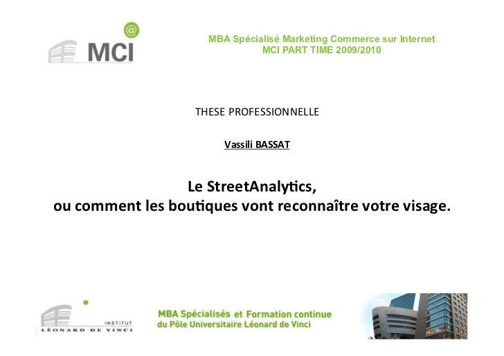 MBA Spécialisé Marketing Commerce sur Internet                                         MCI PART TIME 2009/2010            ...