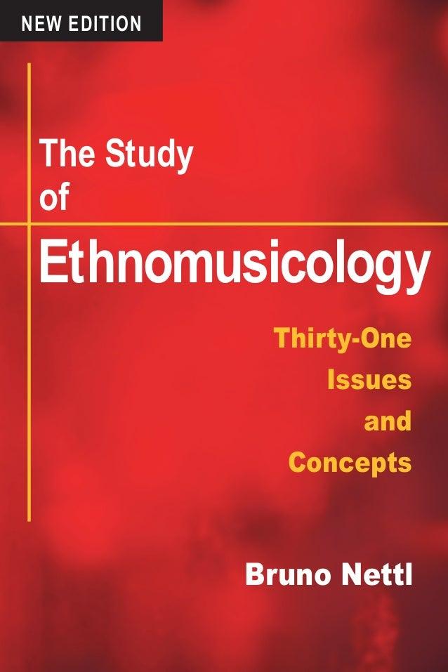 The Study of Ethnomusicology