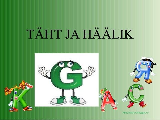 http://lara3172.blogspot.ru/ TÄHT JA HÄÄLIK
