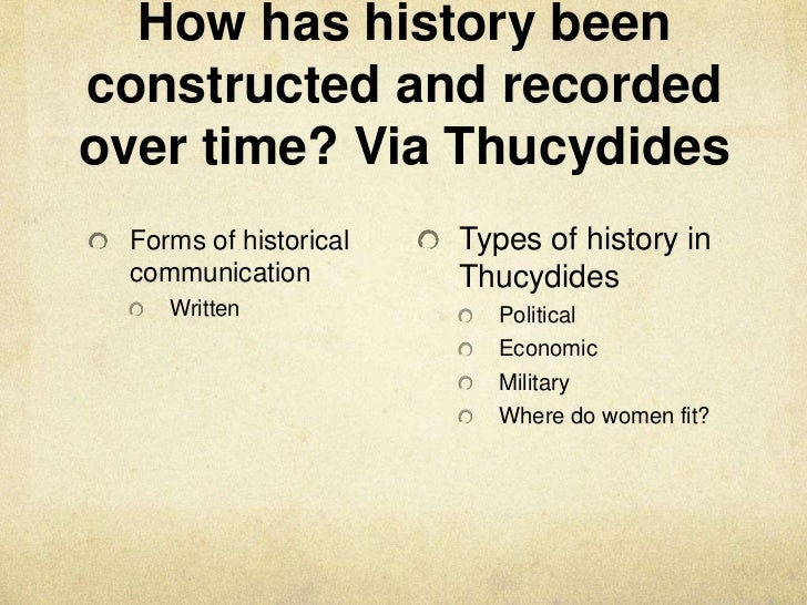 a comparison of thucydides and herodotus in types of historical writing
