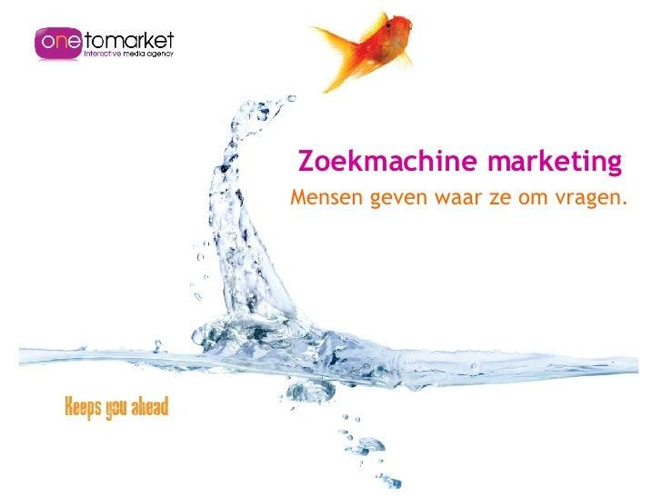 Onetomarket - Thuiswinkel Update September 2007