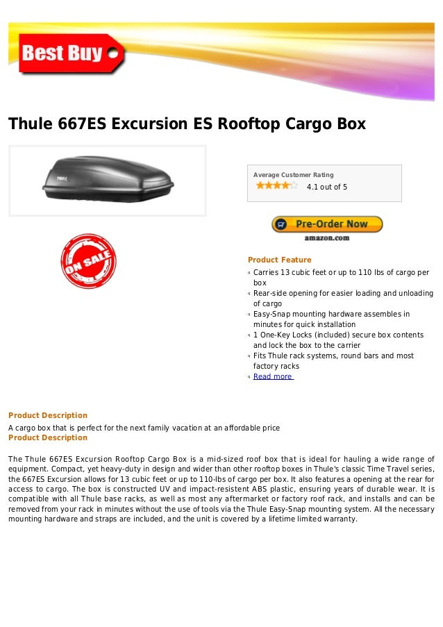 Thule 667 es excursion es rooftop cargo box